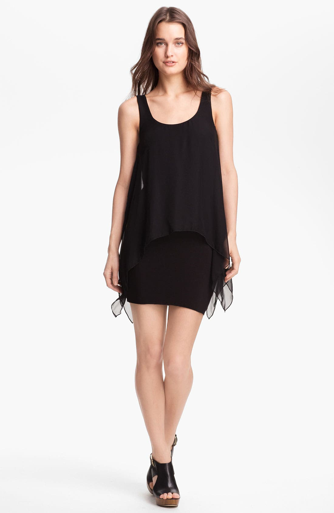 Alternate Image 1 Selected - B44 Dressed by Bailey 44 'Manta Ray' Chiffon Tank Minidress