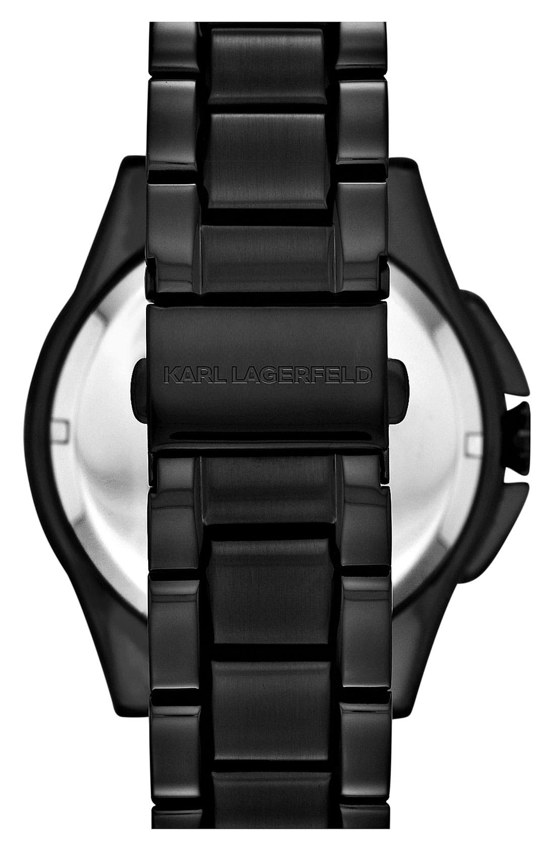 Alternate Image 3  - KARL LAGERFELD 'Energy' Chronograph Bracelet Watch, 44mm