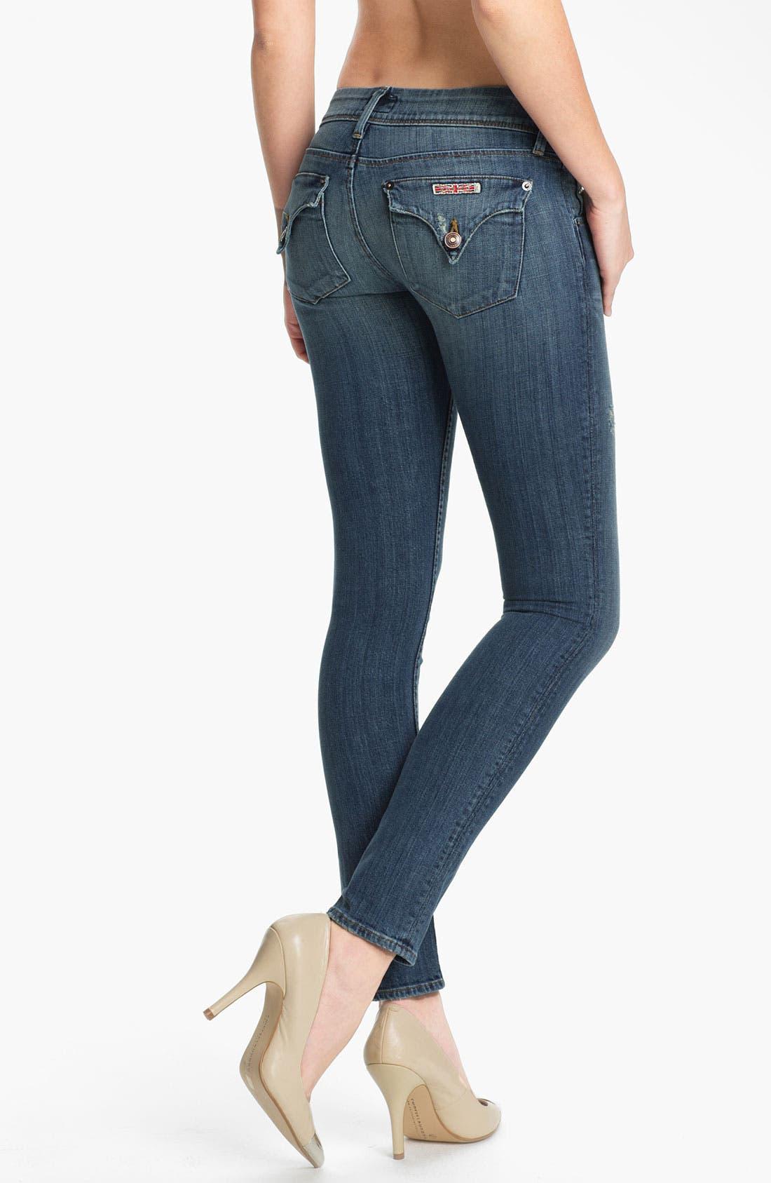 Alternate Image 2  - Hudson Jeans Skinny Stretch Jeans (Vintage Napoli)