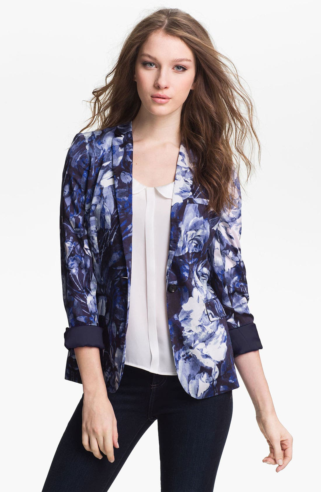 Alternate Image 1 Selected - Vince Camuto Floral Print Blazer