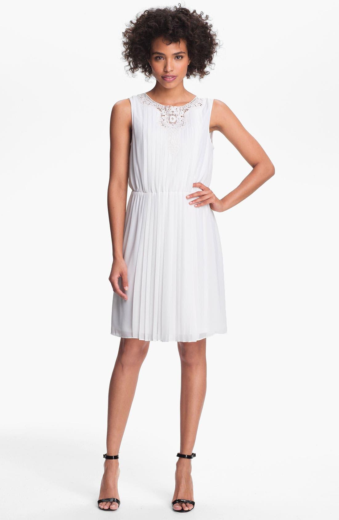 Alternate Image 1 Selected - Jessica Simpson 'Cabaret' Pleated Chiffon Dress