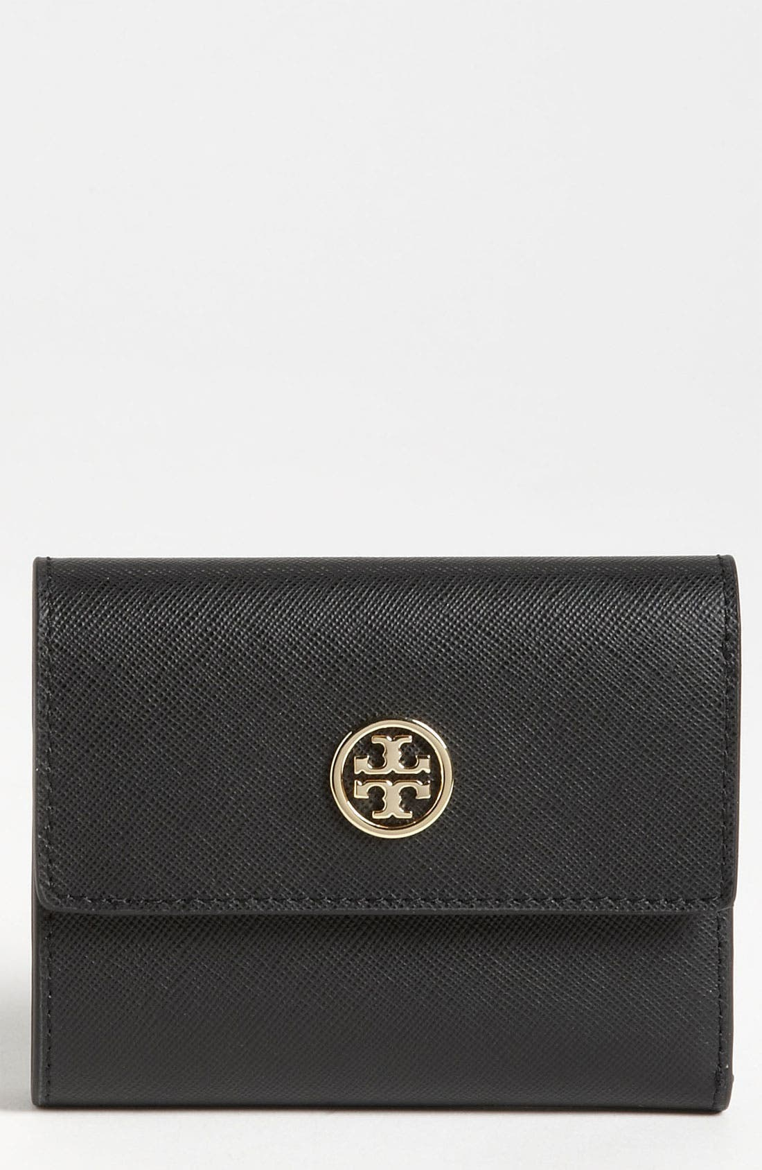 Main Image - Tory Burch 'Robinson' Saffiano Leather French Wallet