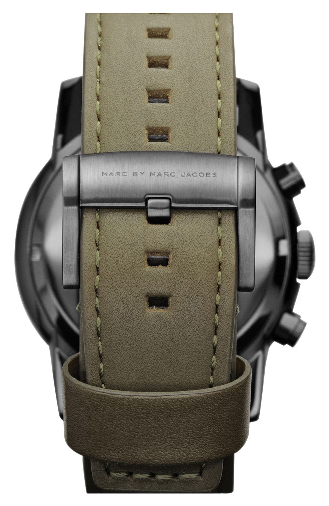 Alternate Image 3  - MARC BY MARC JACOBS 'Larry' Chronograph Leather Strap Watch