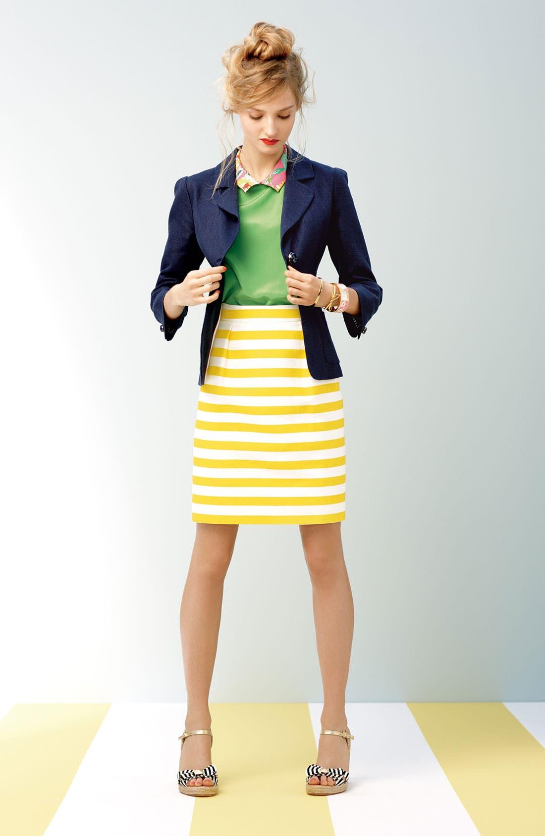 Alternate Image 4  - kate spade new york 'barry' silk blend skirt