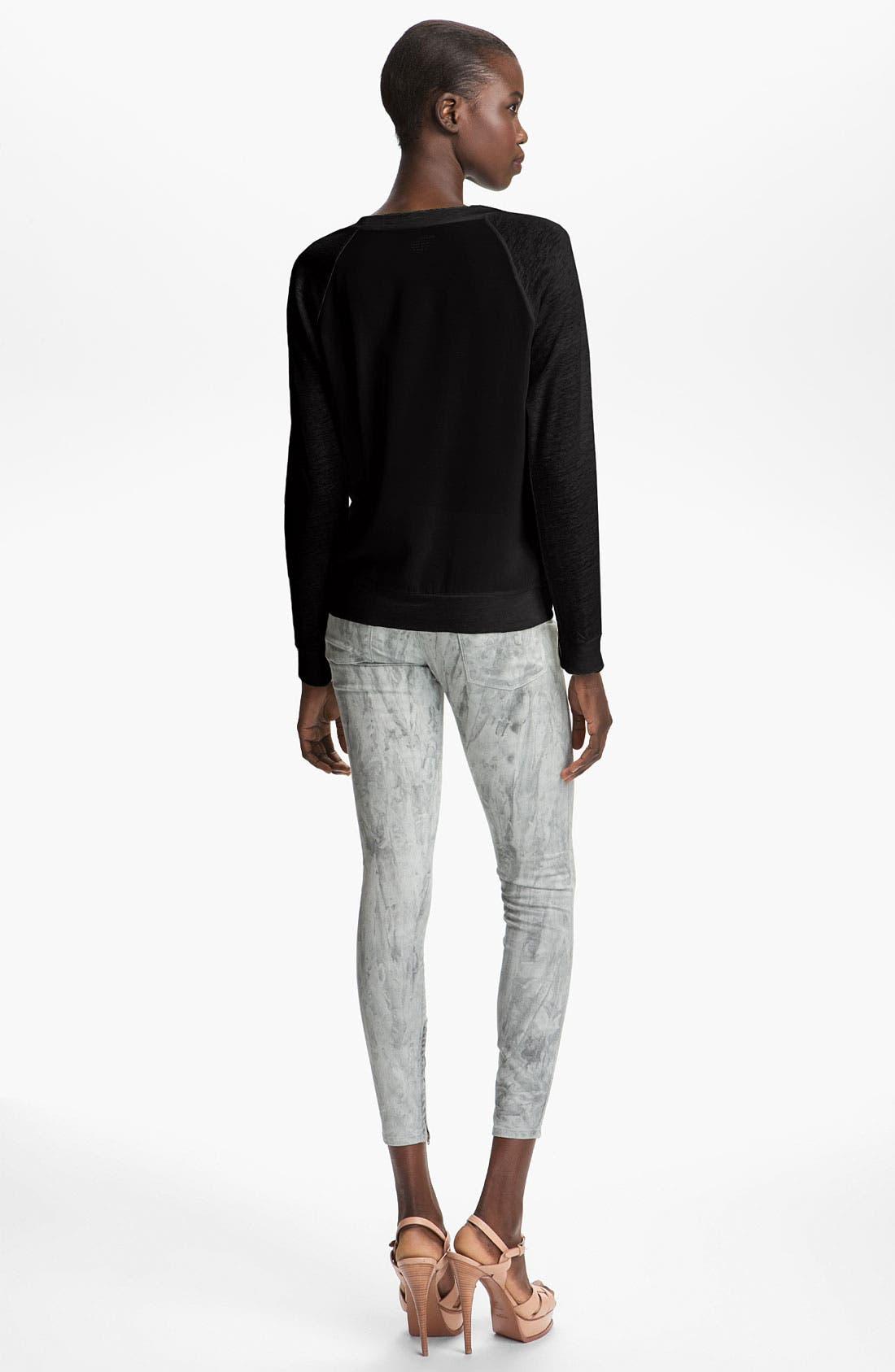 Alternate Image 2  - Majestic Silk Back Sweatshirt