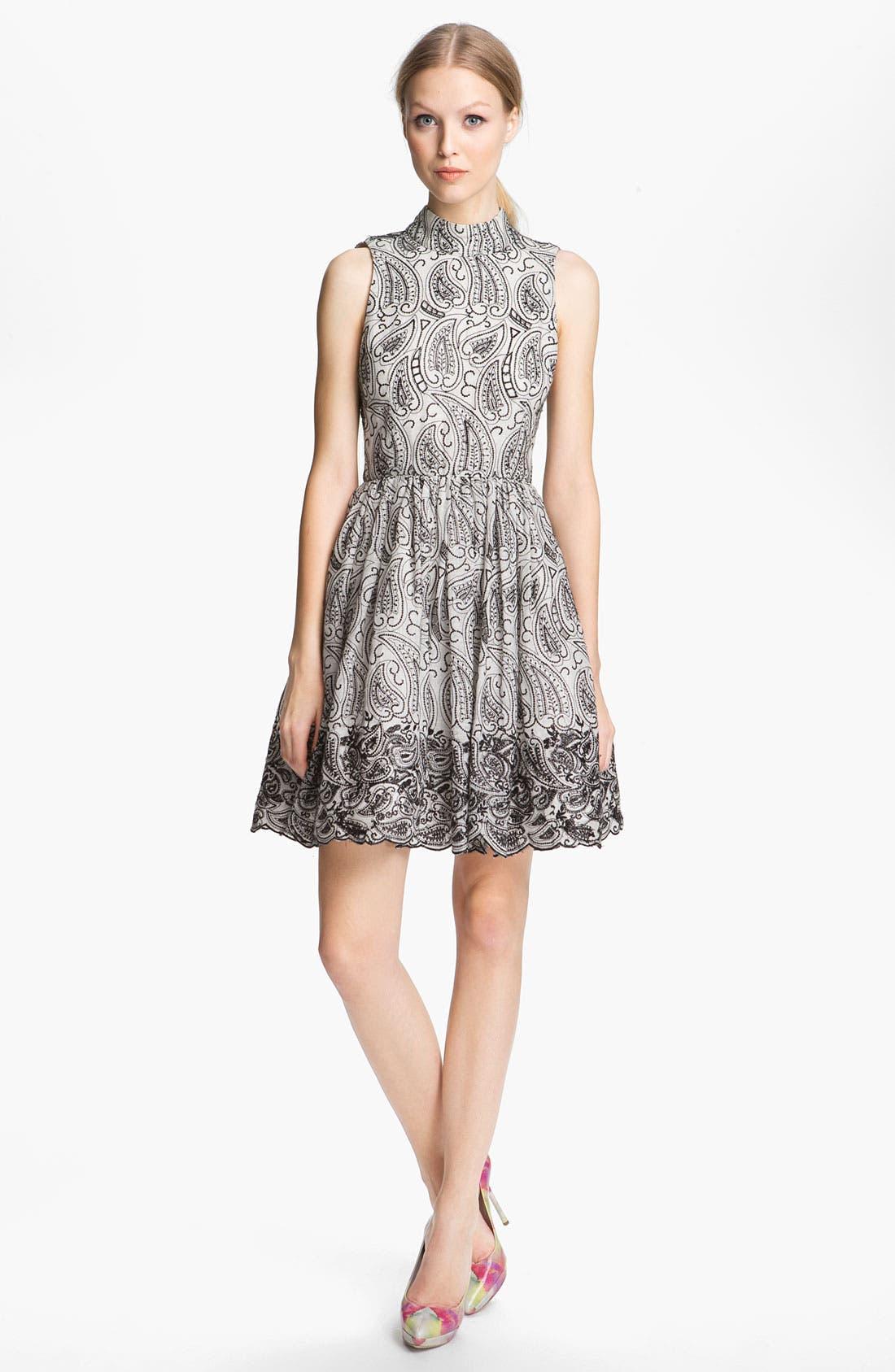 Alternate Image 1 Selected - Alice + Olivia Paisley Print Flared Dress