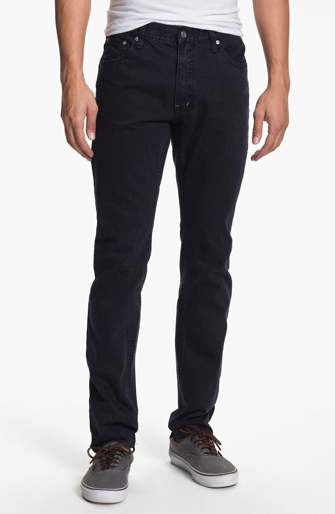 Alternate Image 2  - Cheap Monday High Slim Leg Jeans (Blue Tonal)