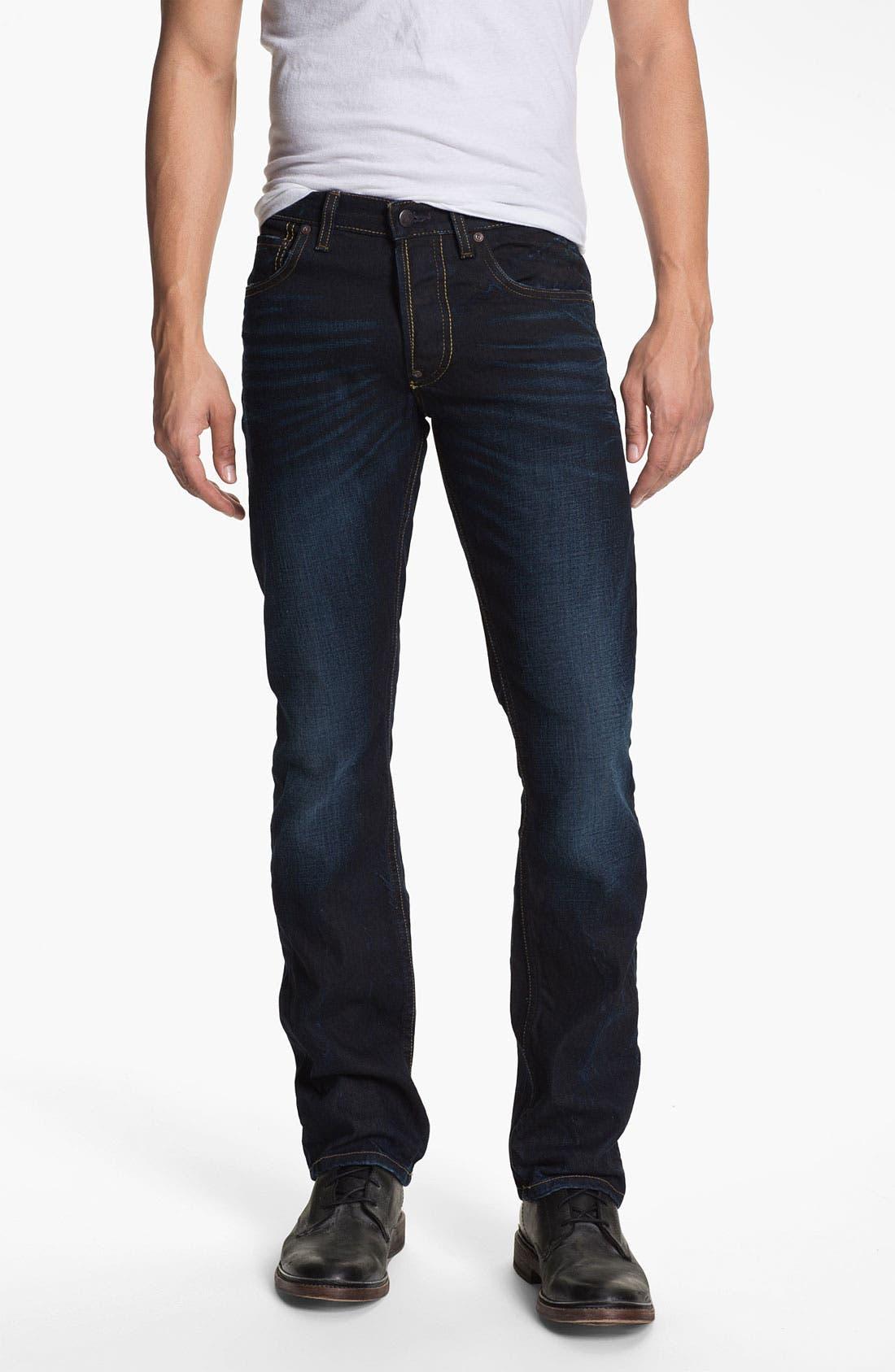 Alternate Image 2  - Gilded Age 'Gotham' Slim Straight Leg Jeans (Dark Wash)