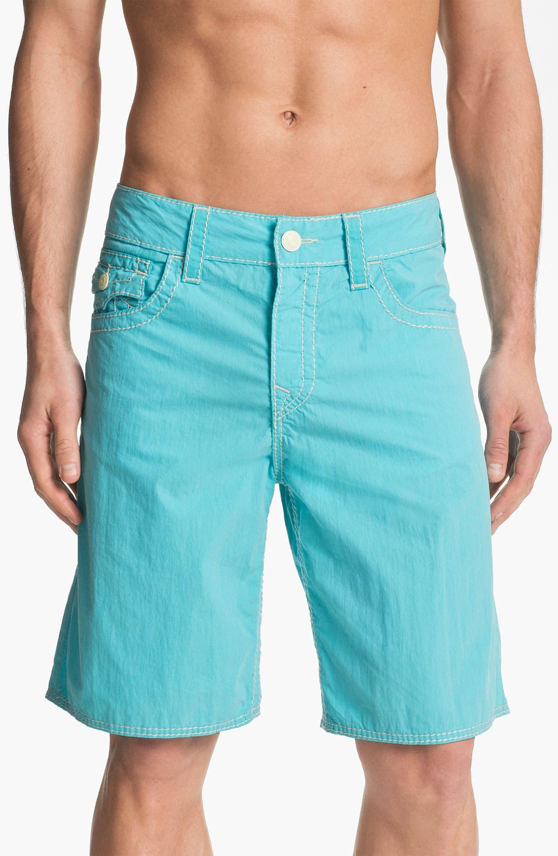 Alternate Image 2  - True Religion Brand Jeans 'Big T' Board Shorts