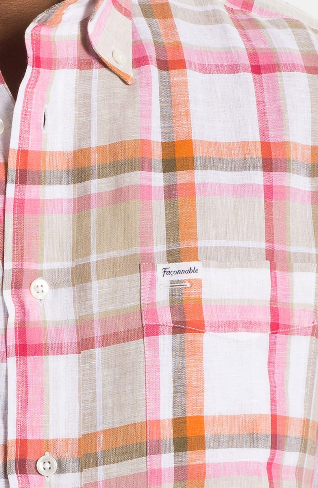 Alternate Image 3  - Façonnable Classique Fit Linen Sport Shirt