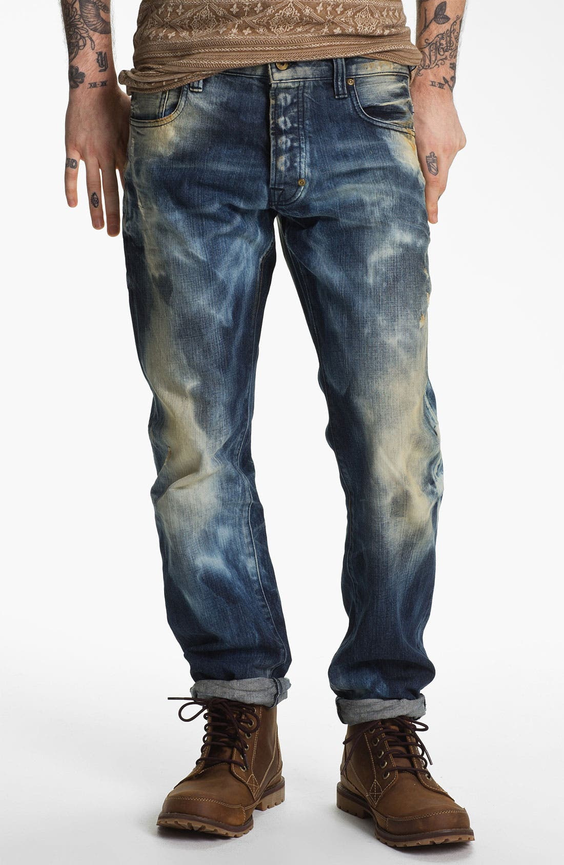 Alternate Image 2  - PRPS 'Nautilus Barracuda' Straight Leg Jeans (Indigo)