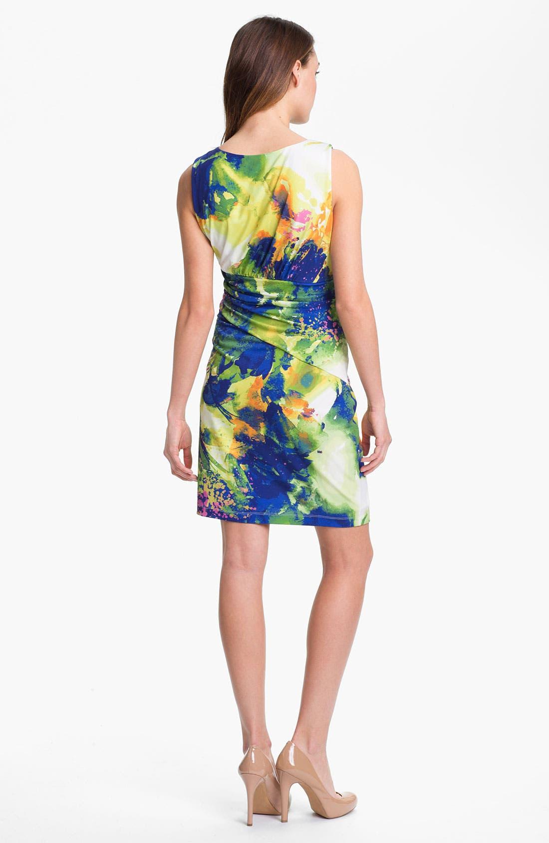 Alternate Image 2  - Suzi Chin for Maggy Boutique Front Twist Print Sheath Dress
