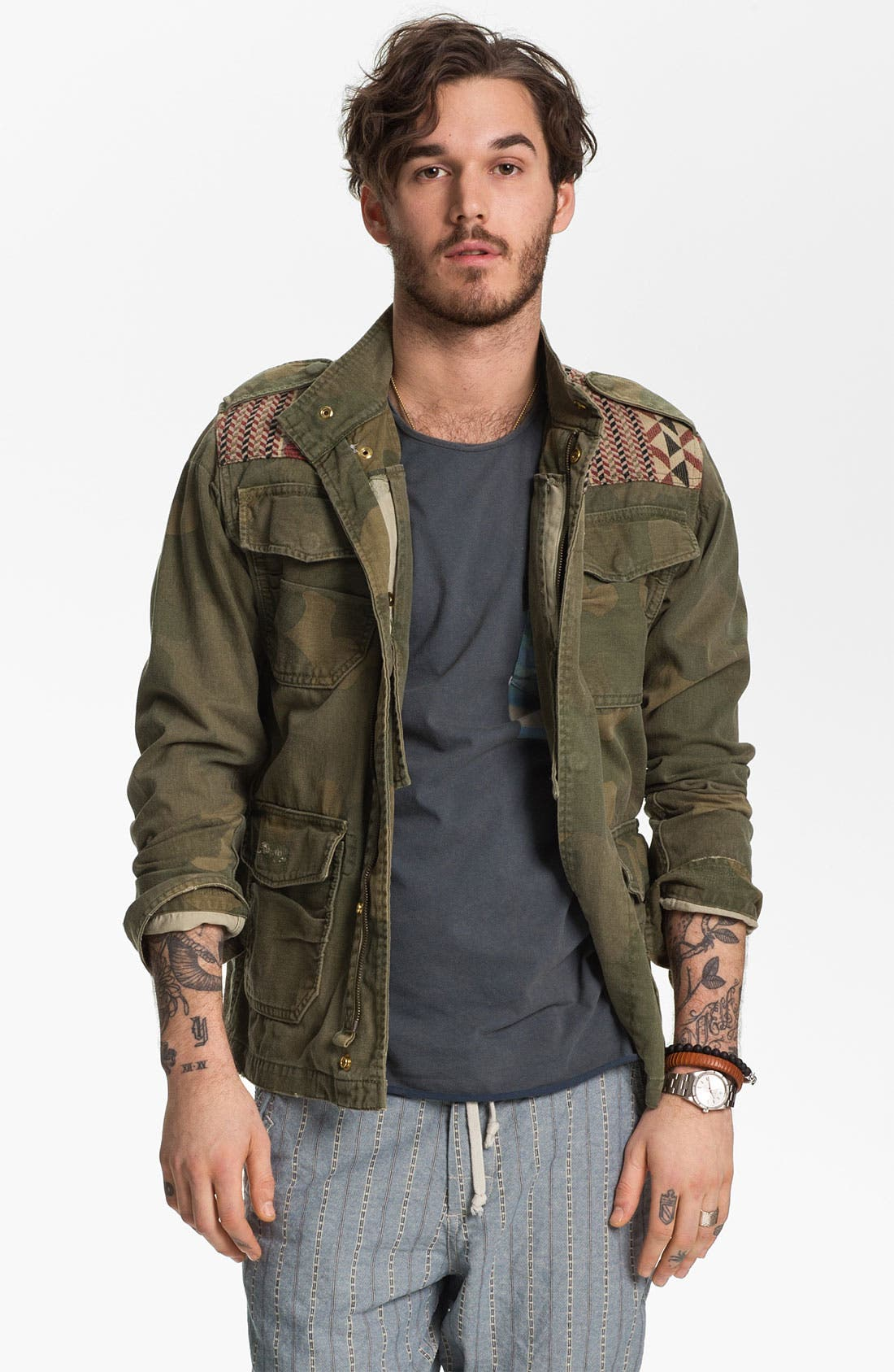 Alternate Image 1 Selected - Scotch & Soda Camo Print Field Jacket