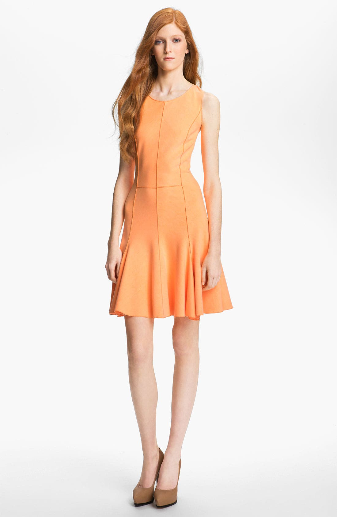 Main Image - Halston Heritage Flared Ponte Dress