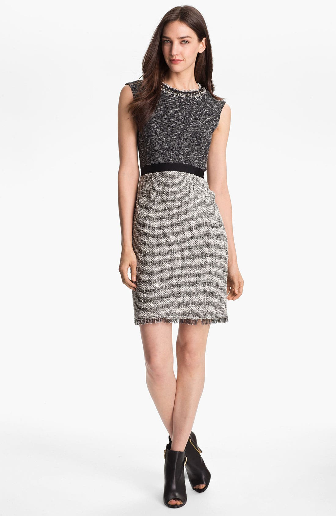 Alternate Image 1 Selected - Rebecca Taylor Tweed Sheath Dress