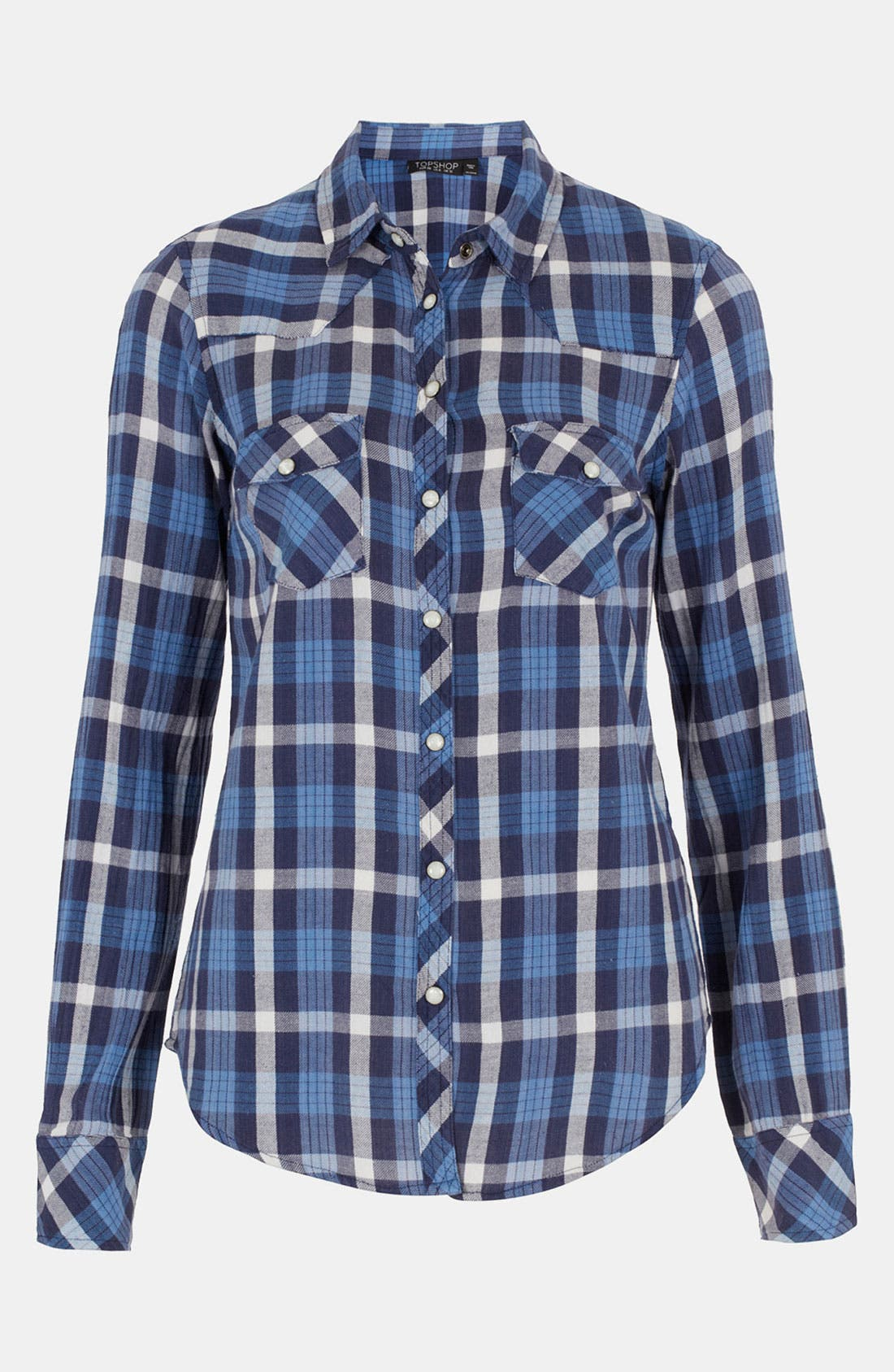 Alternate Image 1 Selected - Topshop 'Atlanta' Plaid Shirt