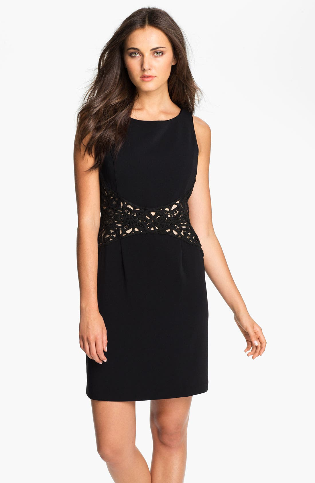Alternate Image 1 Selected - Donna Ricco Sleeveless Sheath Dress (Petite)
