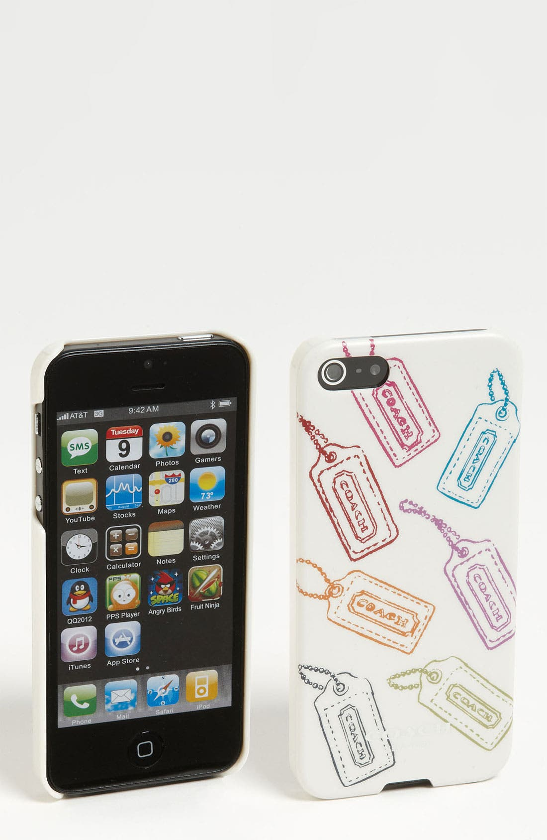 Alternate Image 1 Selected - COACH 'Hangtag Multi' iPhone 5 Case