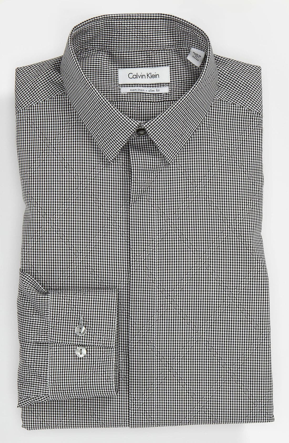 Main Image - Calvin Klein 'Como Check' Slim Fit Dress Shirt