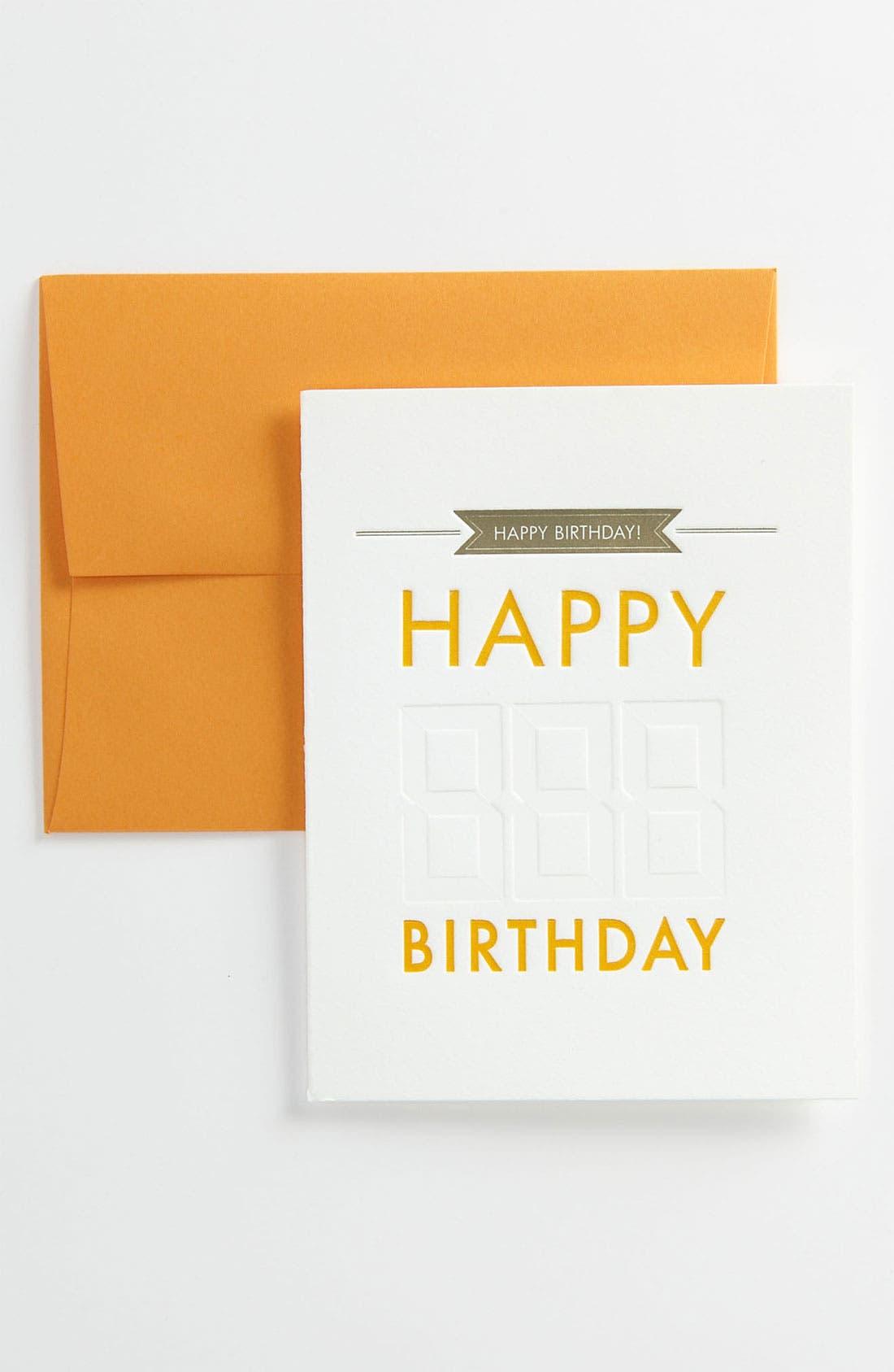 Alternate Image 1 Selected - Letterpress Birthday Cards (Set of 6)
