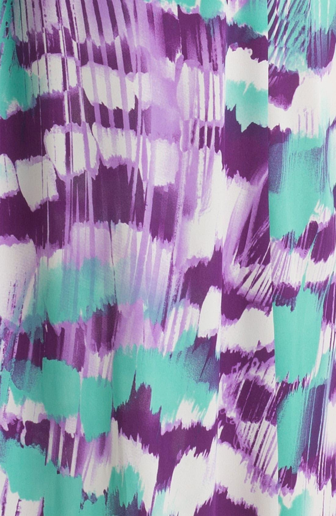 Alternate Image 3  - Soprano Cutout Abstract Print Maxi Dress (Juniors)