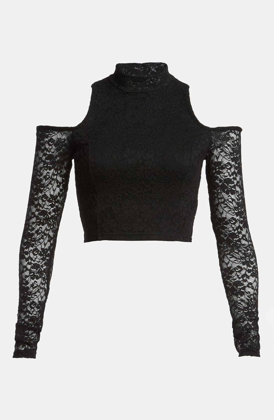 Main Image - MINKPINK 'Imogen' Stretch Lace Crop Top