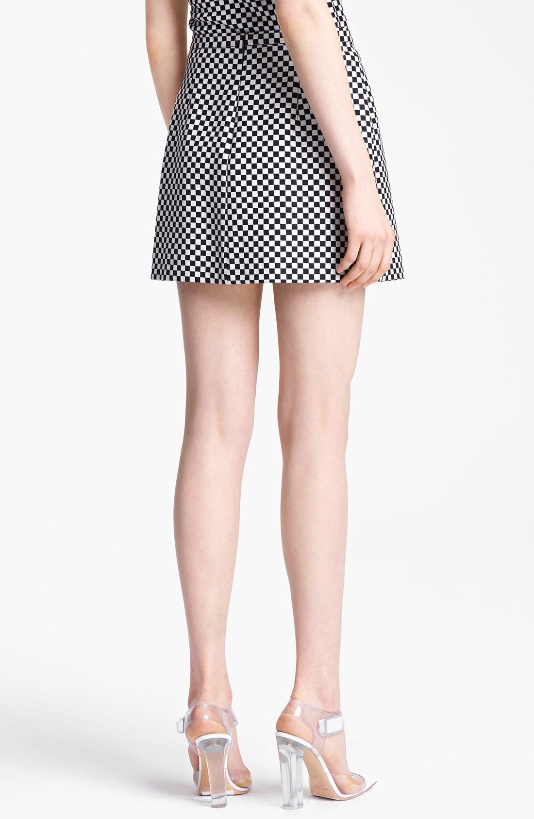 Alternate Image 2  - Michael Kors Optic Check Jacquard Miniskirt