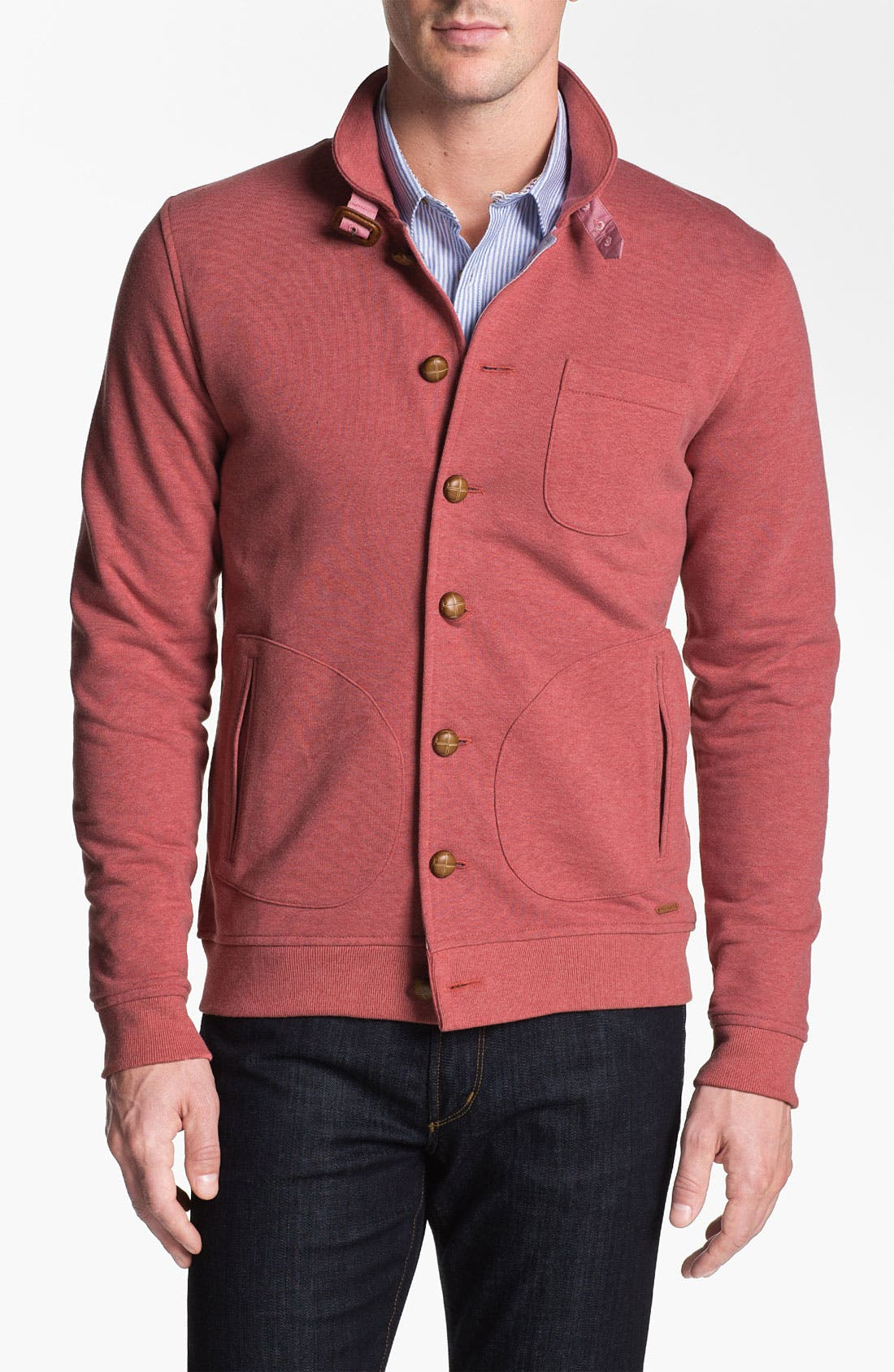 Main Image - Ted Baker London 'Folded' Button Cardigan