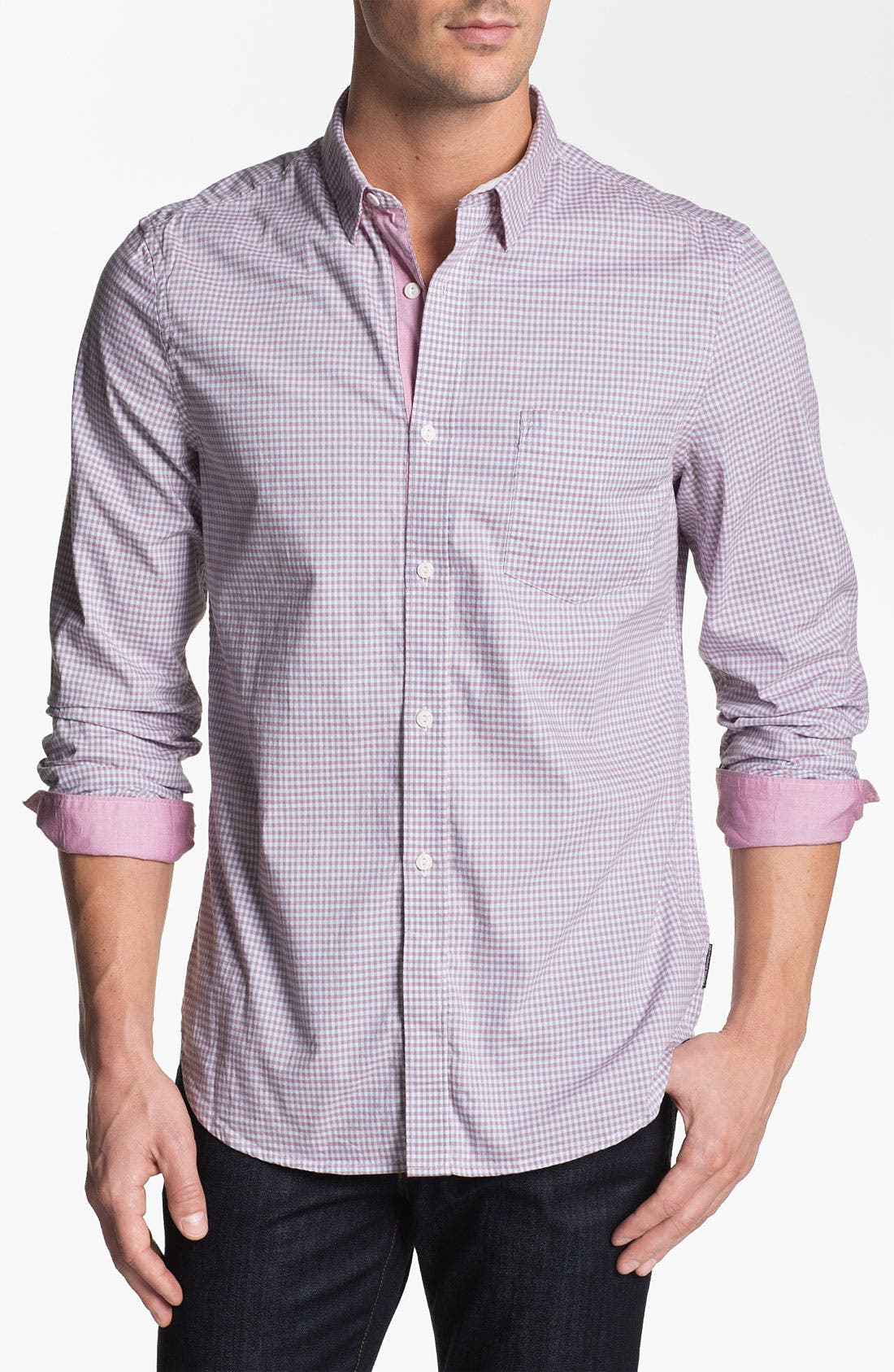 Alternate Image 1 Selected - French Connection 'Wax Job Gingham' Sport Shirt (Online Only)