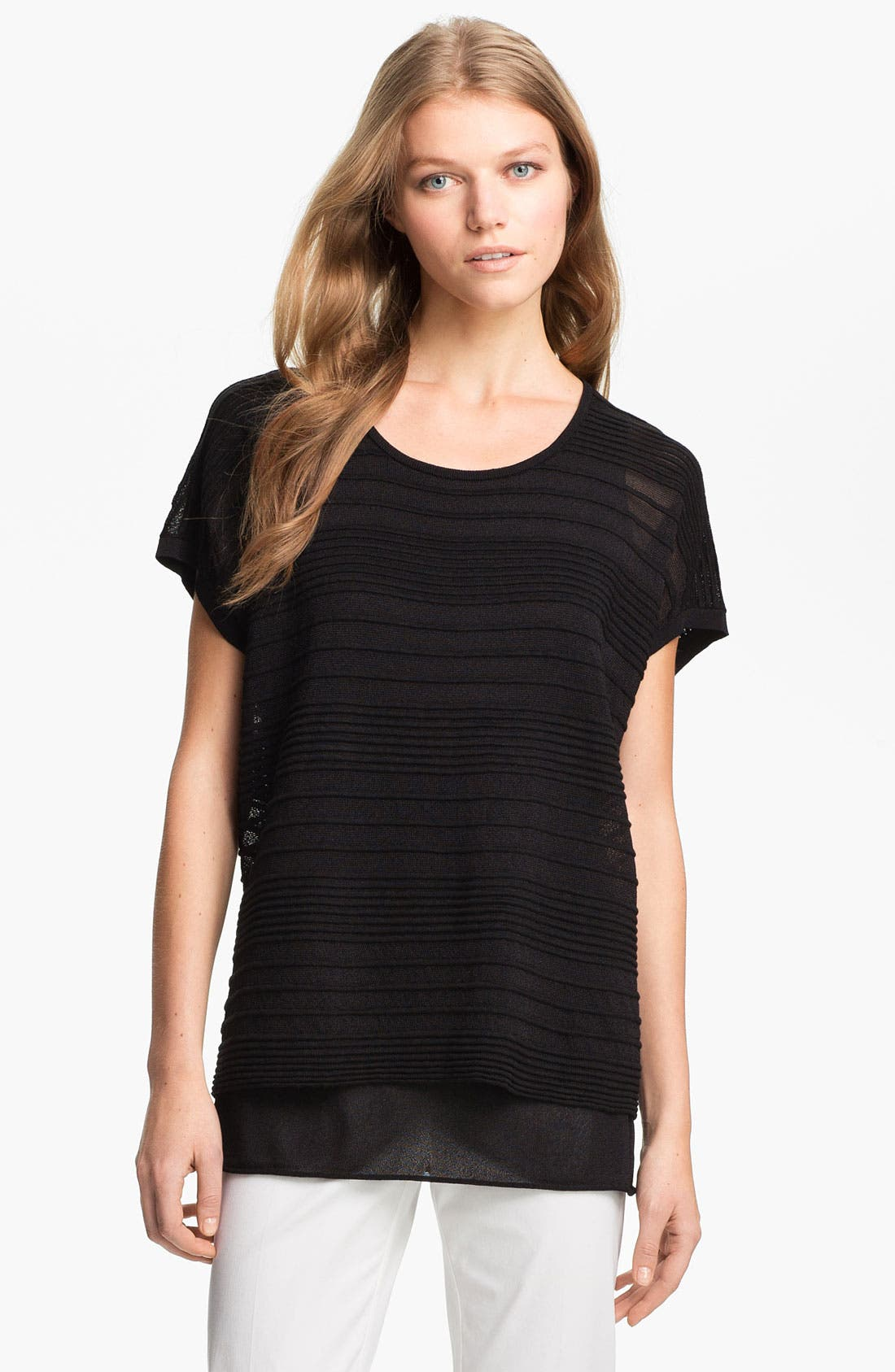 Alternate Image 1 Selected - Lafayette 148 New York 'Pure Radiance' Layered Top