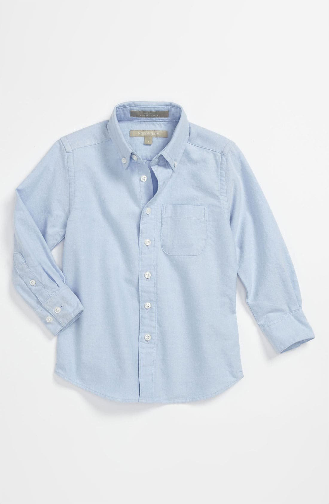 Main Image - Nordstrom 'Michael' Oxford Woven Shirt (Toddler)