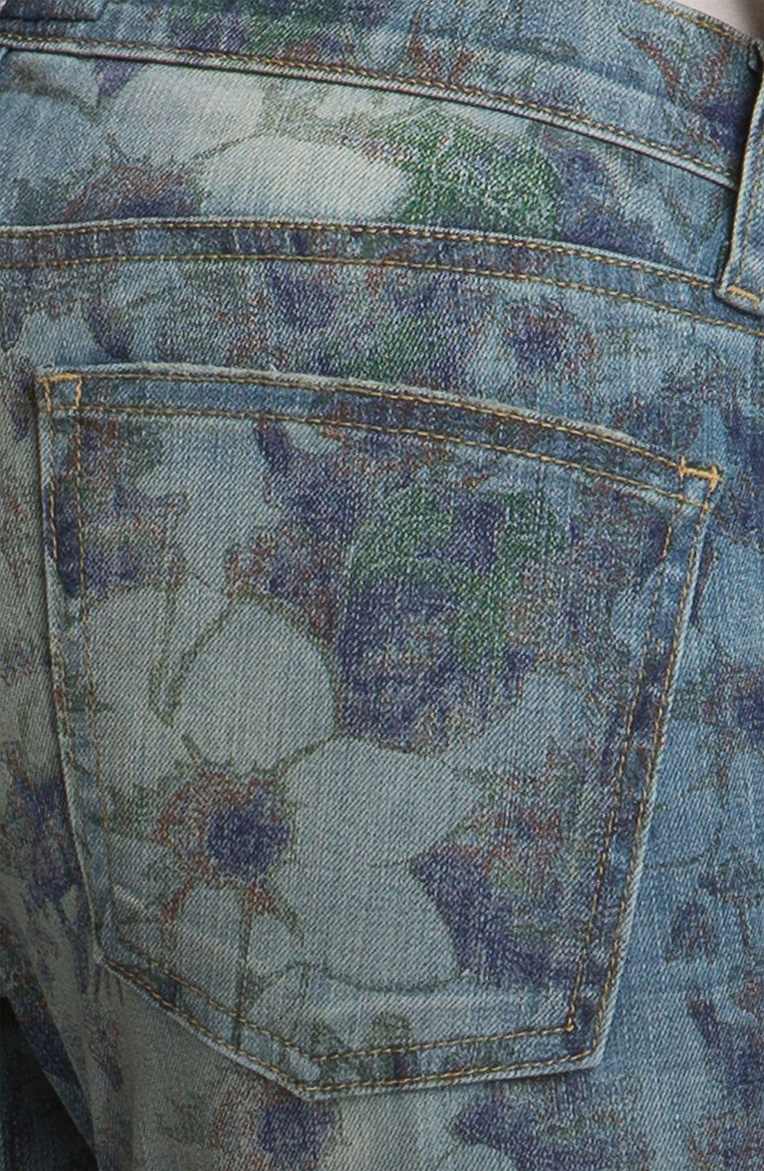 Alternate Image 4  - Current/Elliott 'The Stiletto' Burnout Floral Print Stretch Jeans