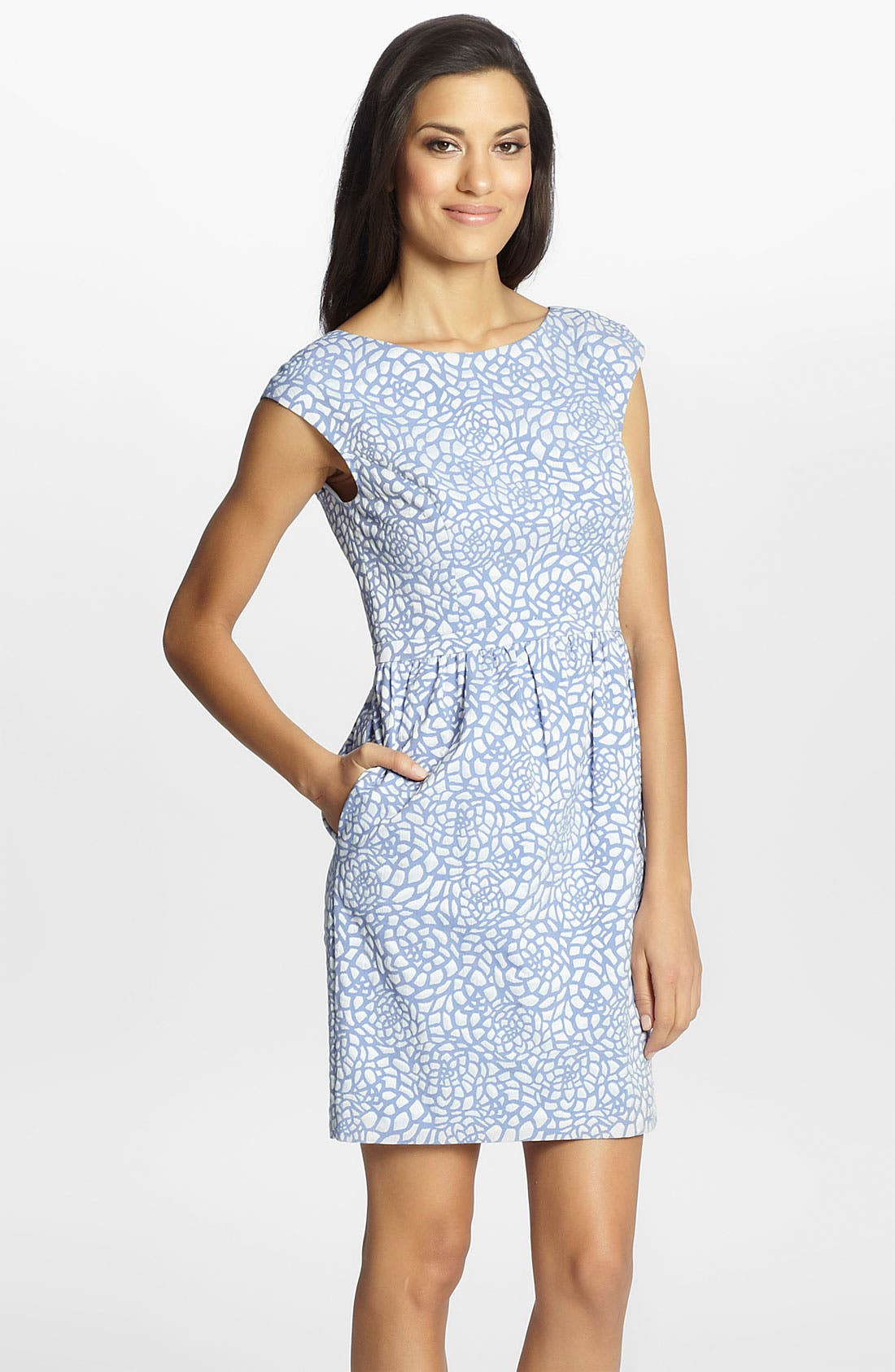 Alternate Image 1 Selected - Cynthia Steffe 'Jasmine' Print Jacquard Dress