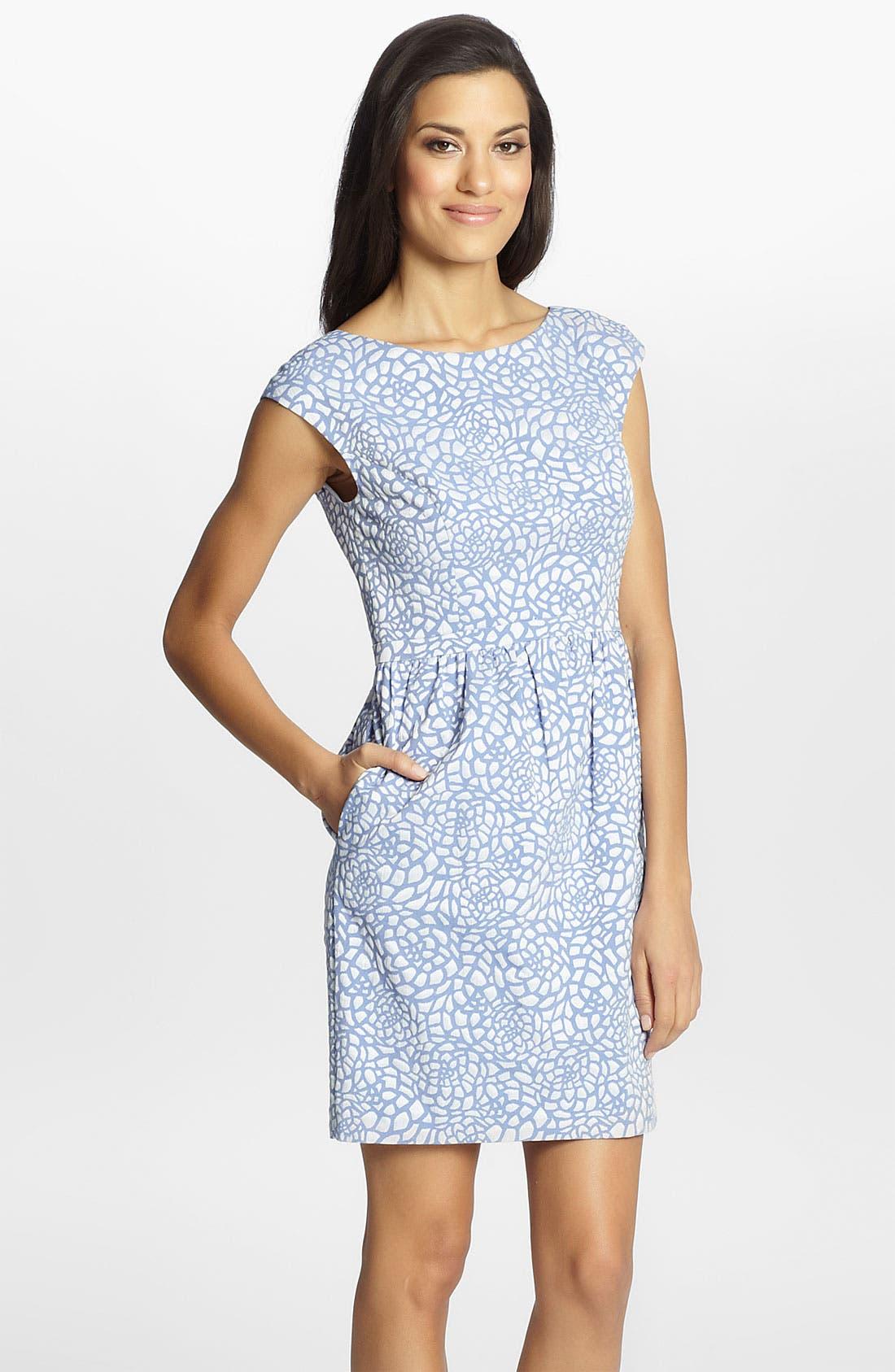 Main Image - Cynthia Steffe 'Jasmine' Print Jacquard Dress