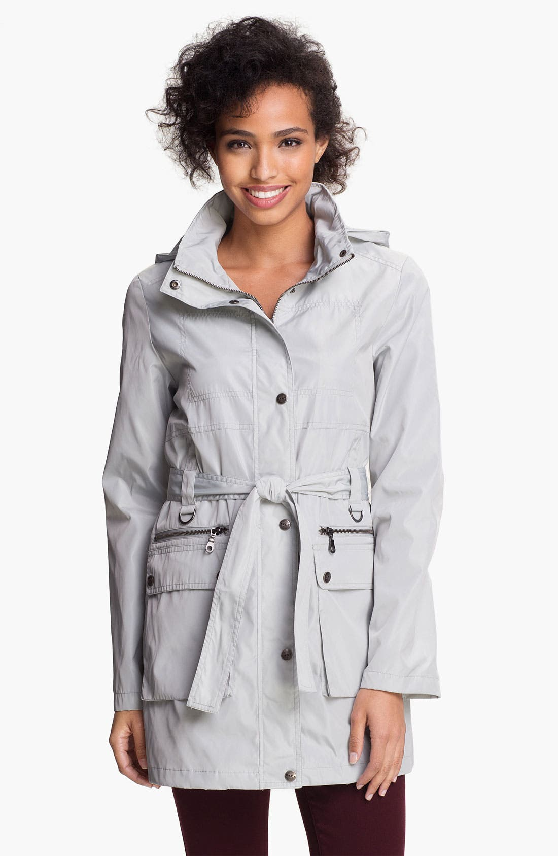Main Image - DKNY Belted Anorak (Online Only)