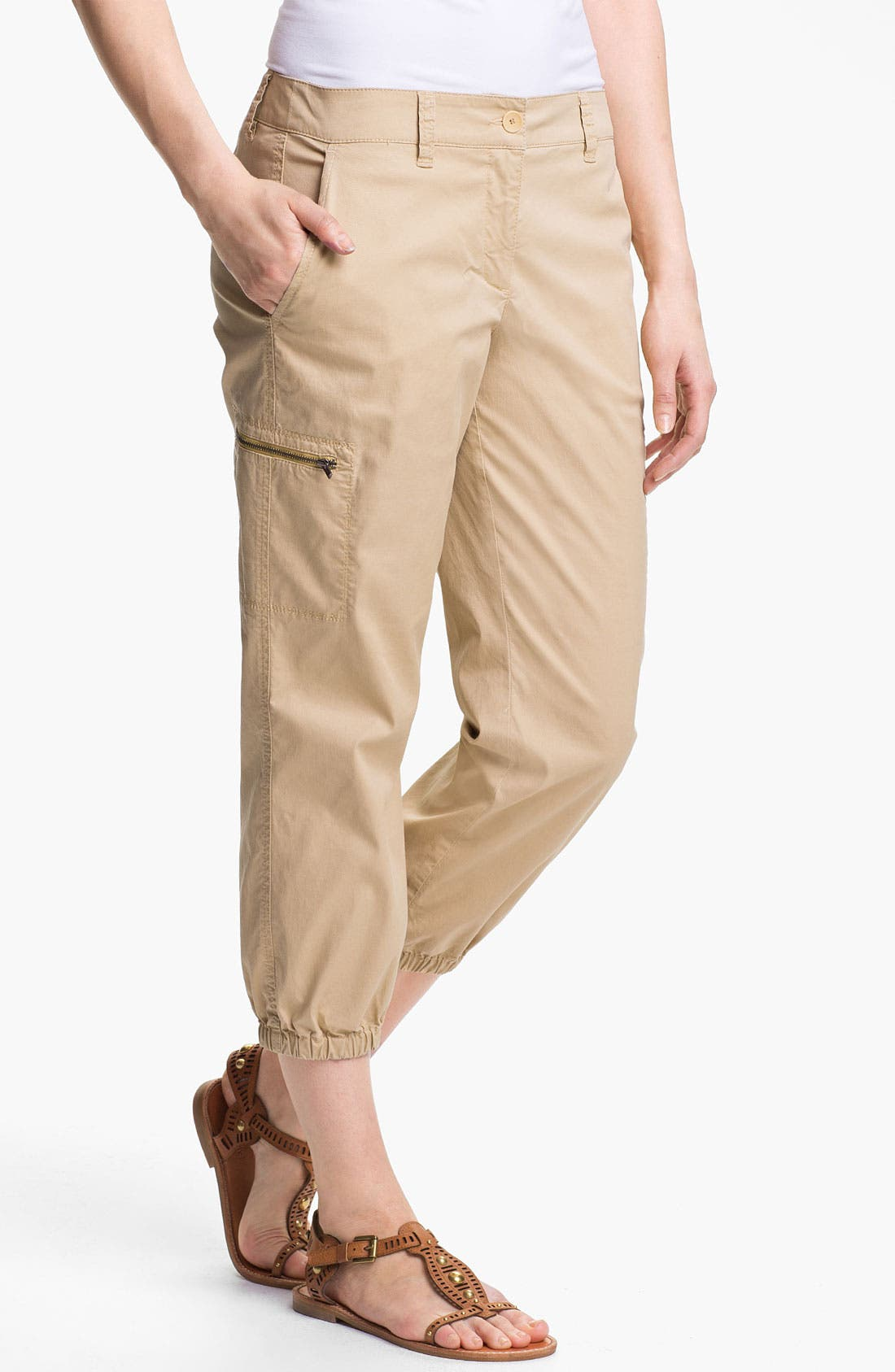 Alternate Image 1 Selected - Eileen Fisher Crop Cargo Pants