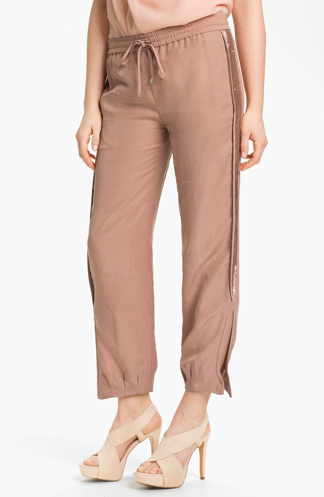 Main Image - Diane von Furstenberg 'Kamaris' Sequin Tuxedo Stripe Pants