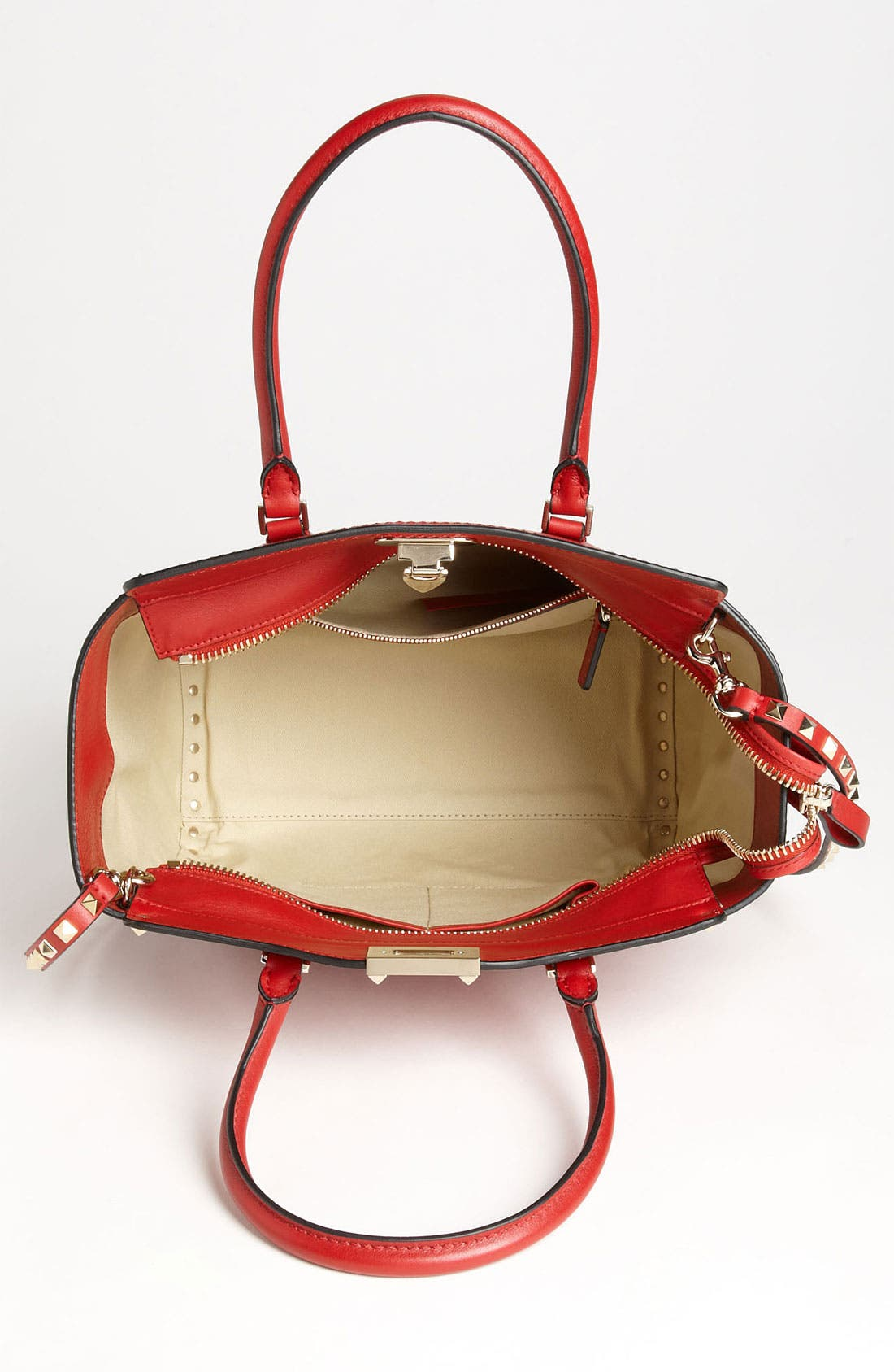 Alternate Image 3  - Valentino 'Rockstud' Double Handle Leather Tote