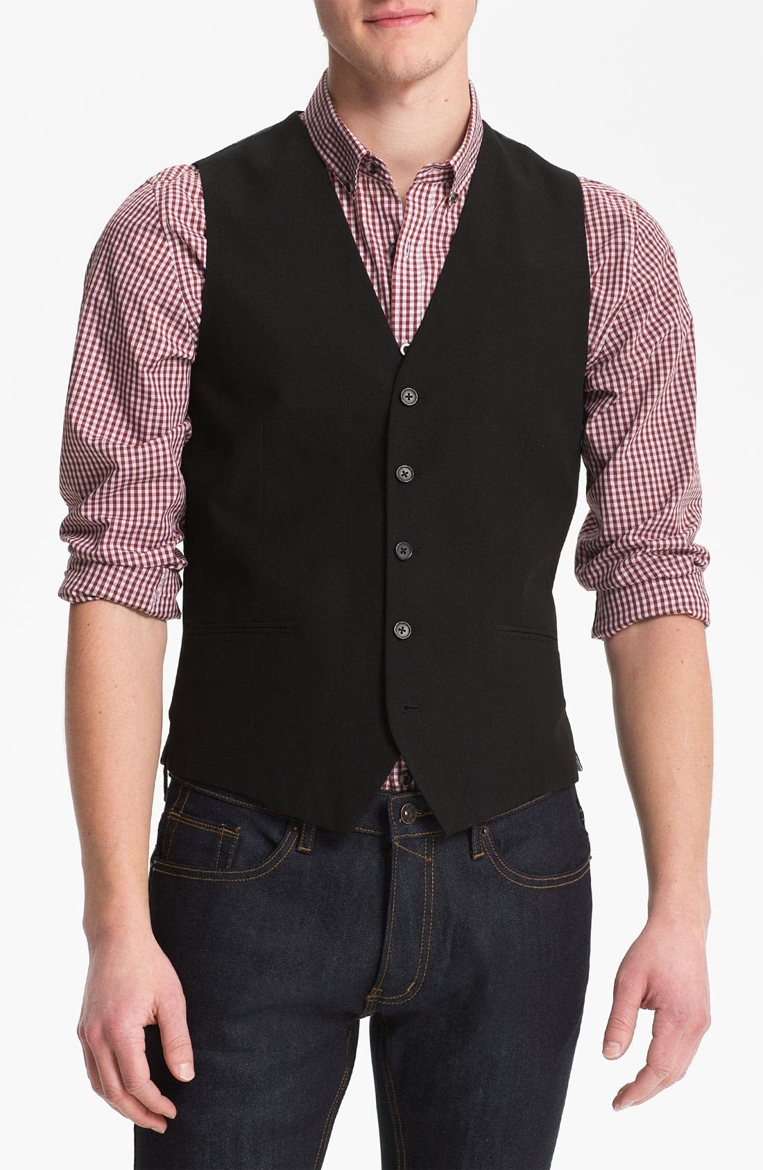 Main Image - Topman Slim Fit Vest