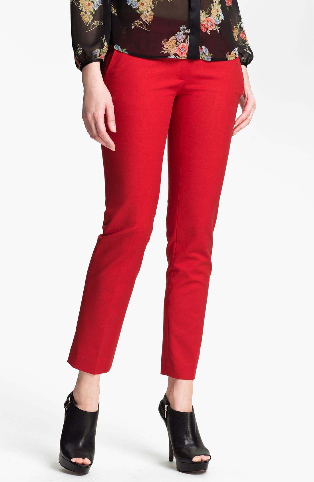 Alternate Image 1 Selected - MICHAEL Michael Kors Skinny Ankle Pants (Regular & Petite)