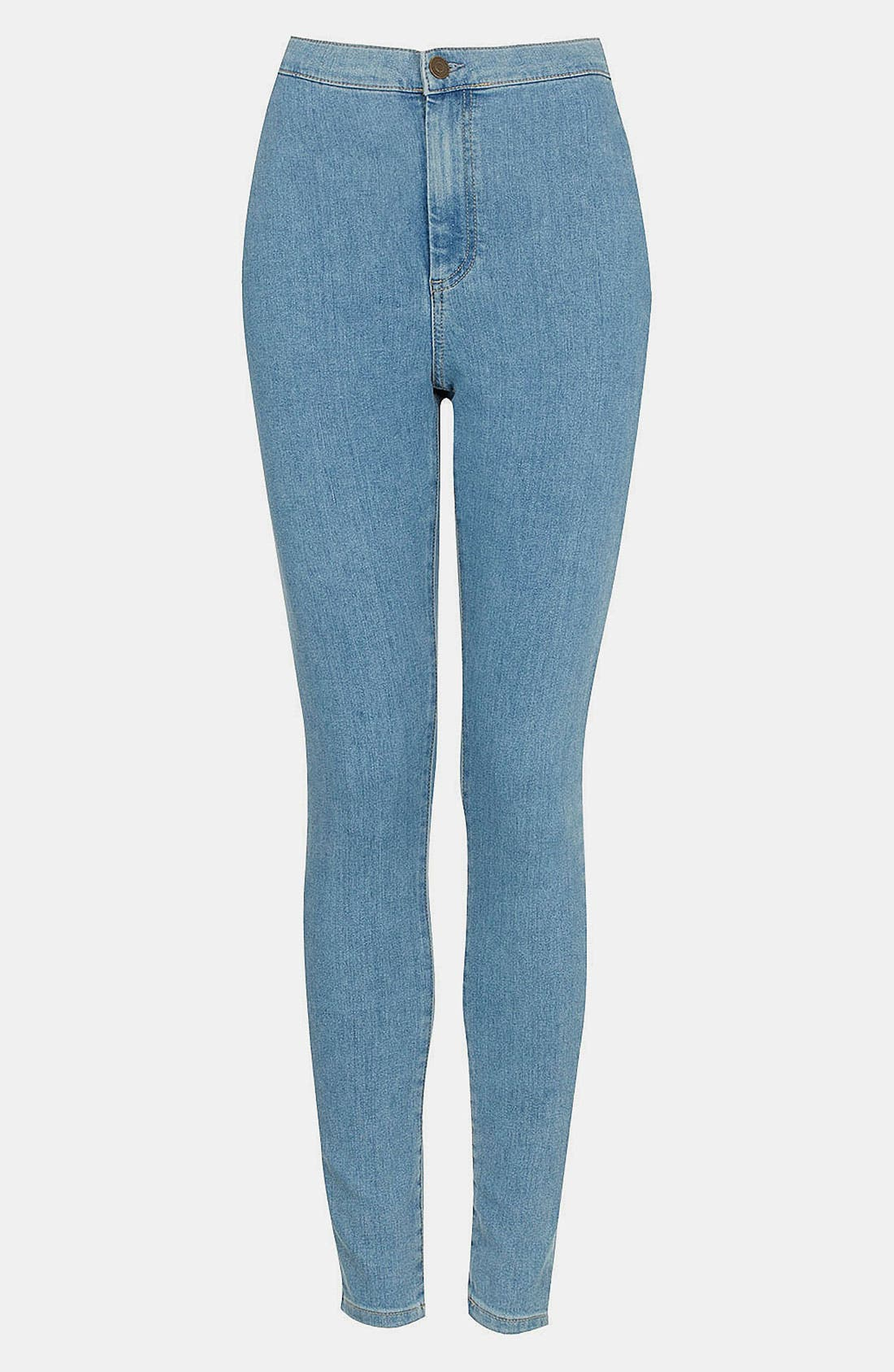 Main Image - Topshop Moto 'Joni' High Waist Skinny Jeans (Mid Stone) (Short)