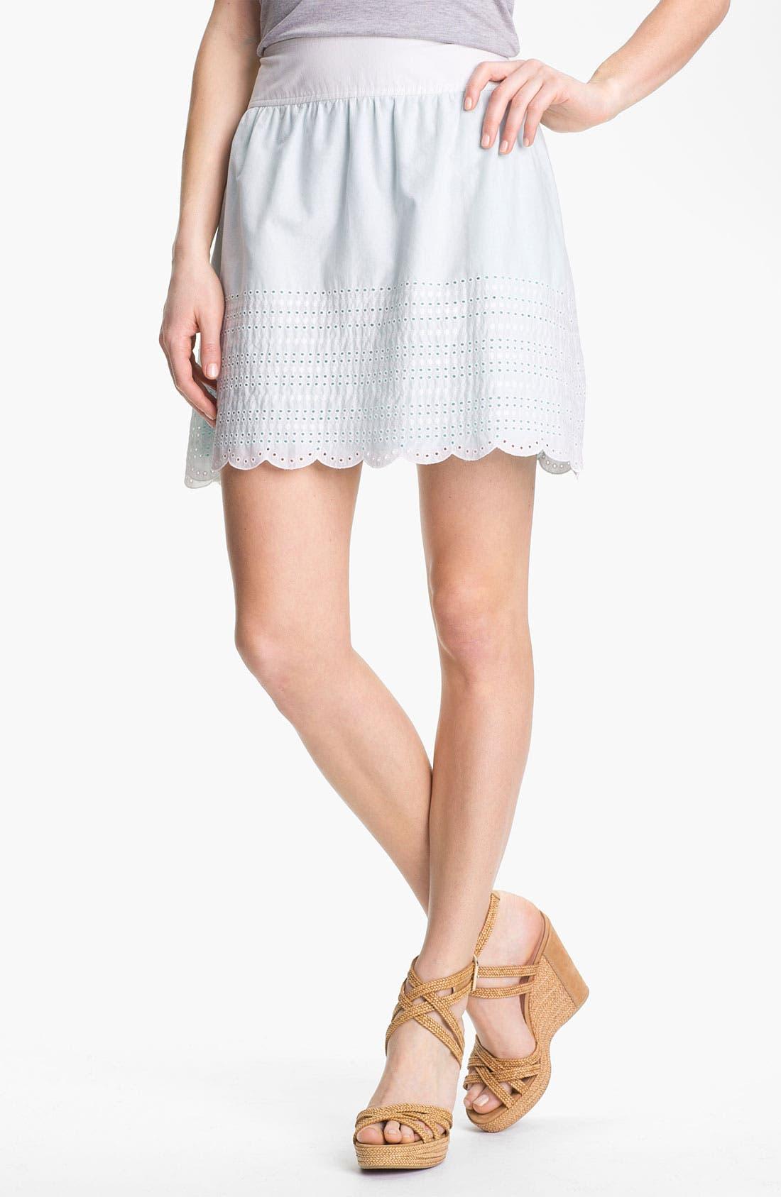 Main Image - Caslon Eyelet Cotton Skirt