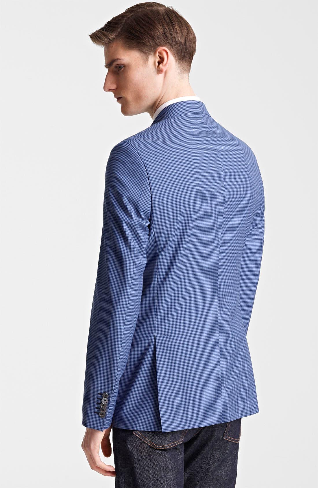 Alternate Image 2  - Paul Smith London Slim Fit Gingham Wool Blazer