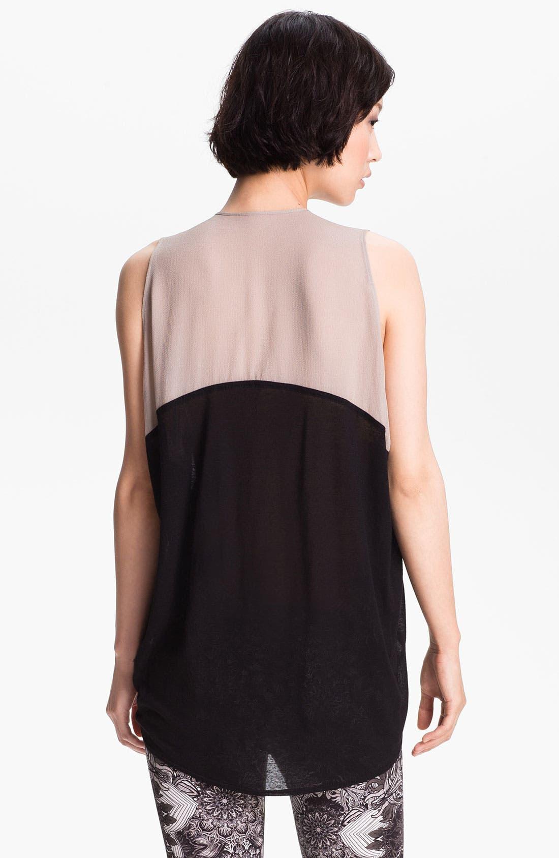 Alternate Image 3  - Helmut Lang Contrast Trim Jersey Top