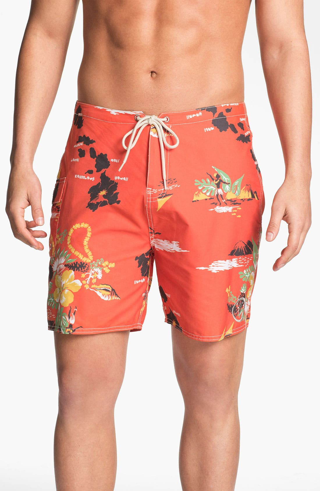 Alternate Image 1 Selected - Toes on the Nose 'Mahalo' Board Shorts