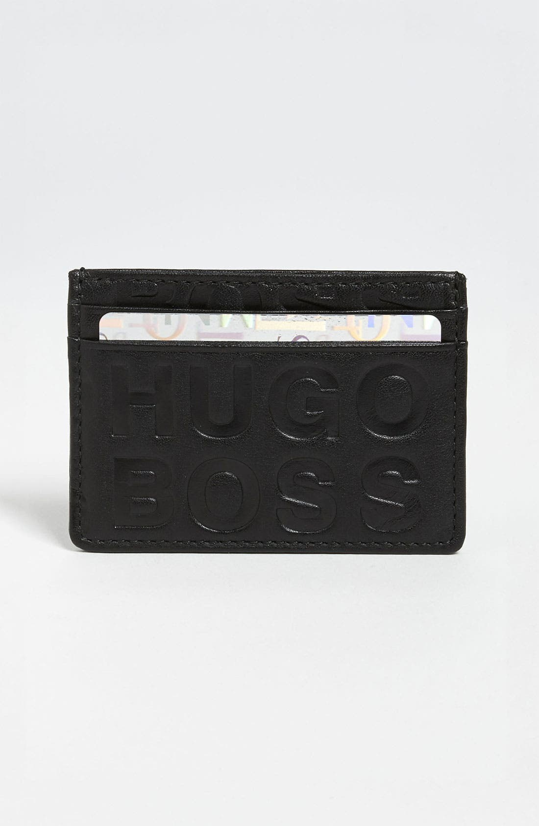 Alternate Image 1 Selected - BOSS Black 'Saurio' Card Case