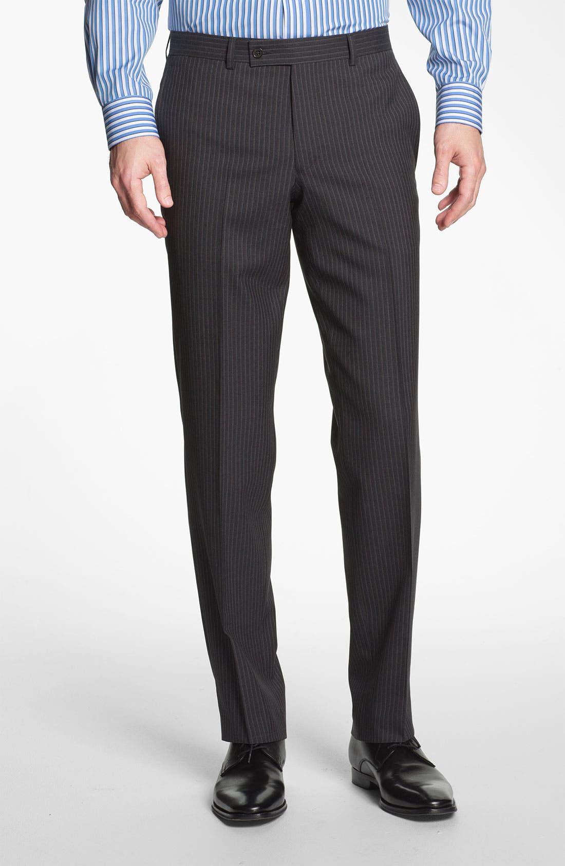 Alternate Image 4  - Ted Baker London Trim Fit Stripe Suit