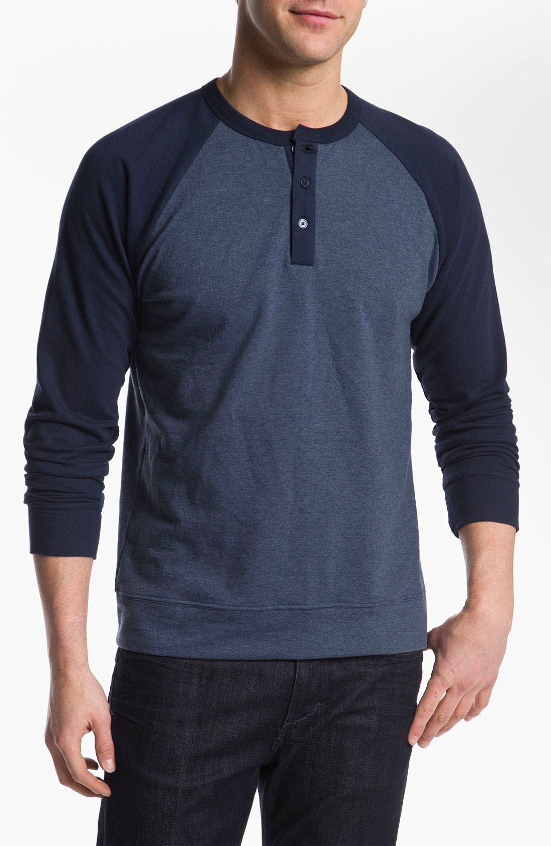 Alternate Image 1 Selected - Obey 'Schmidt' Raglan Sleeve Henley Sweatshirt