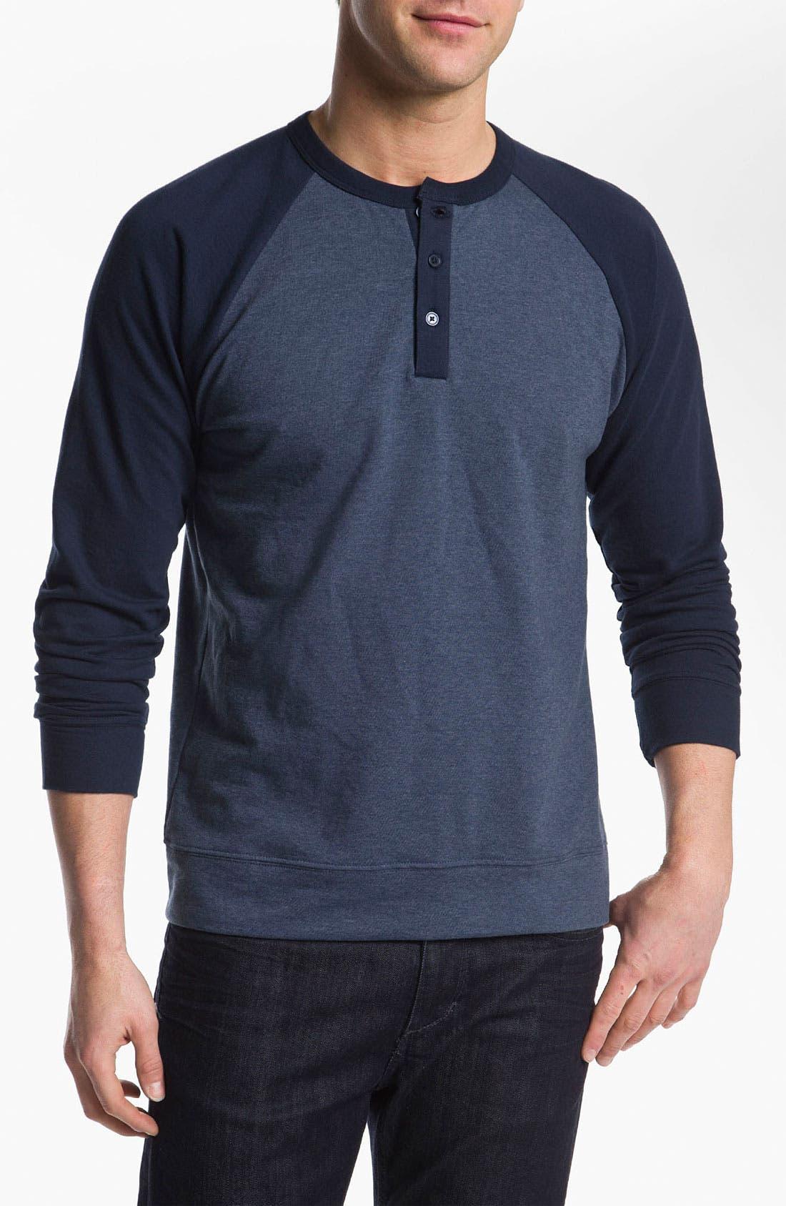 Main Image - Obey 'Schmidt' Raglan Sleeve Henley Sweatshirt