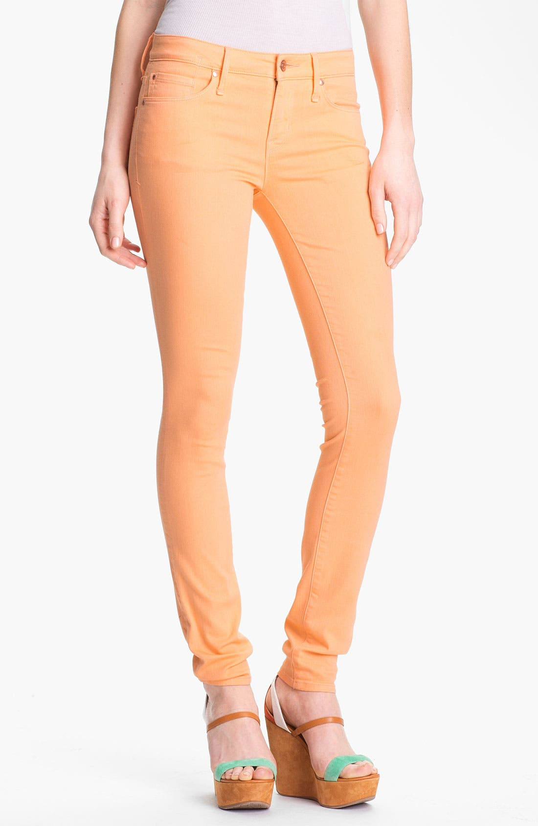 Alternate Image 1 Selected - MARC BY MARC JACOBS 'Gaia' Colored Super Skinny Stretch Jeans (Apricot)